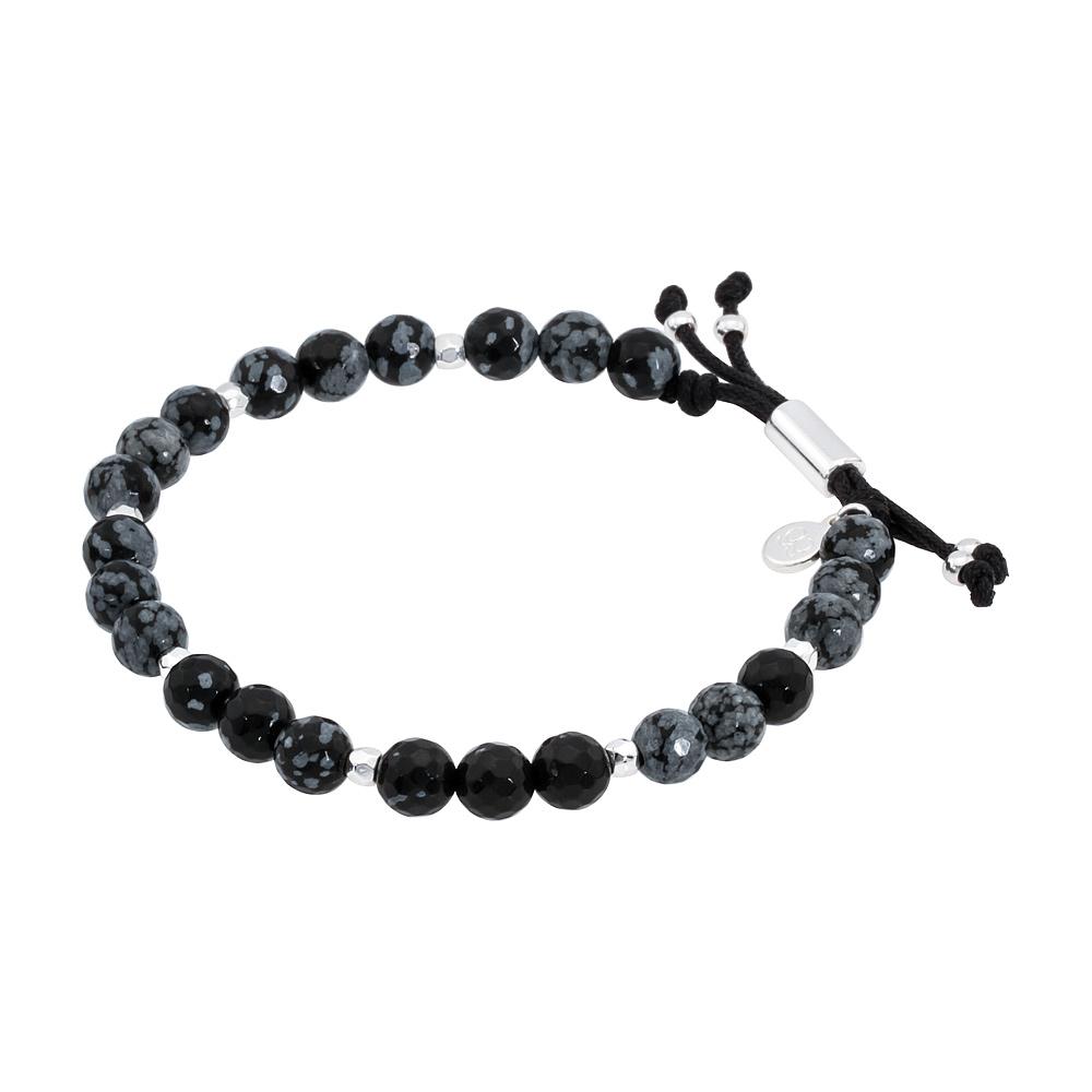 Snowflake Obsidian Bracelet For Courage