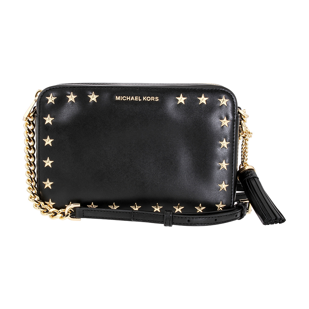 881f77ed3191 Details about Michael Kors Ginny Ladies Medium Black Leather Crossbody Bag  32F7GGNM2Y001