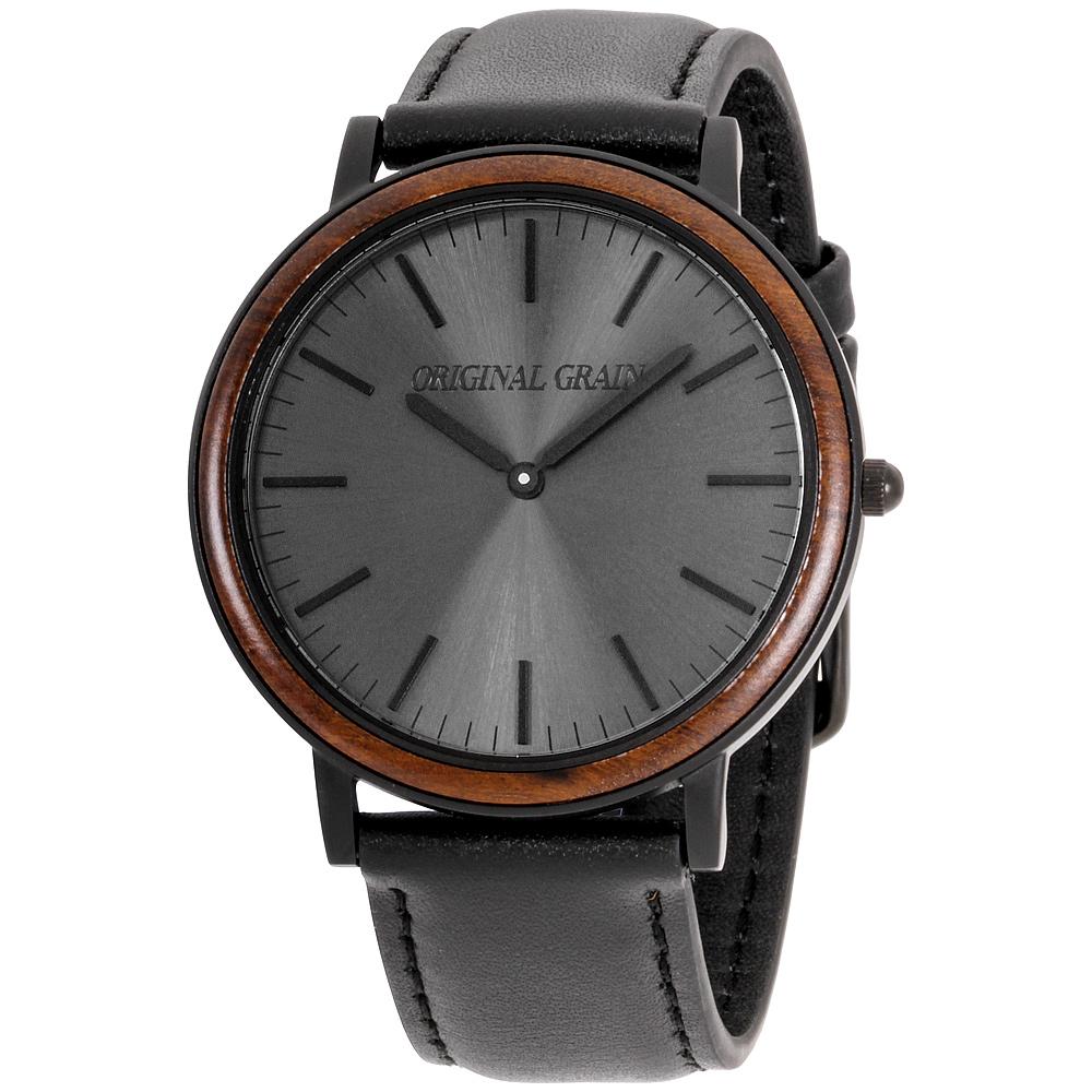 a15382ba4fb2d5 Details about Original Grain Minimalist Black Dial Leather Strap Men's Watch  OG402003EB