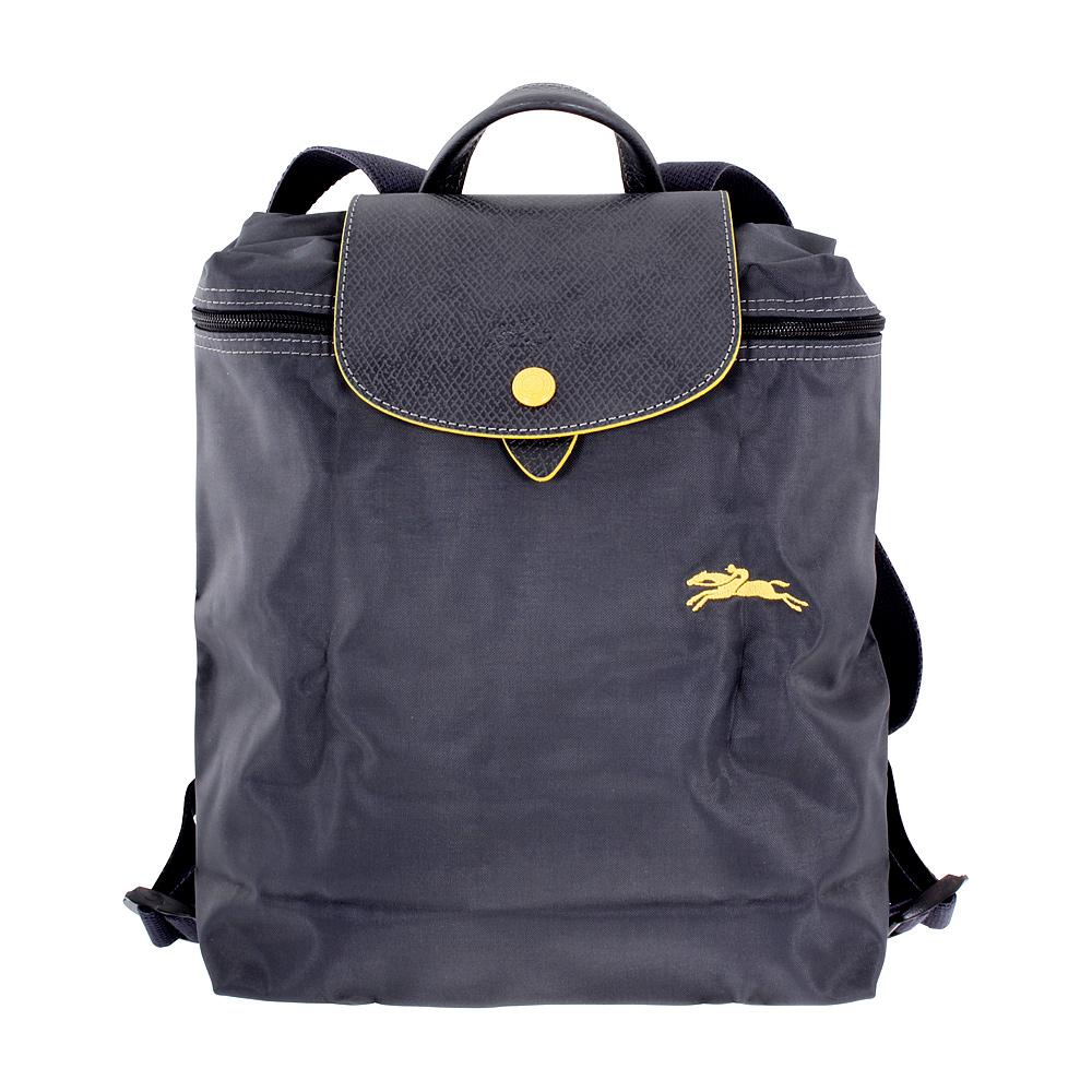 b279408ca01a Details about Longchamp Le Pliage Ladies Medium Gunmetal Nylon Backpack  L1699619300