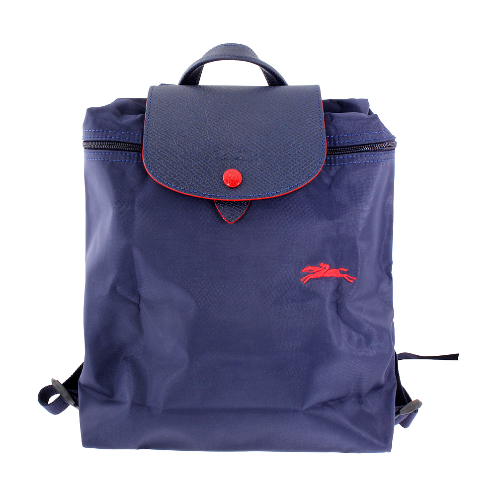 03aea1d36f0b Details about Longchamp Le Pliage Ladies Medium Navy Nylon Backpack  L1699619556