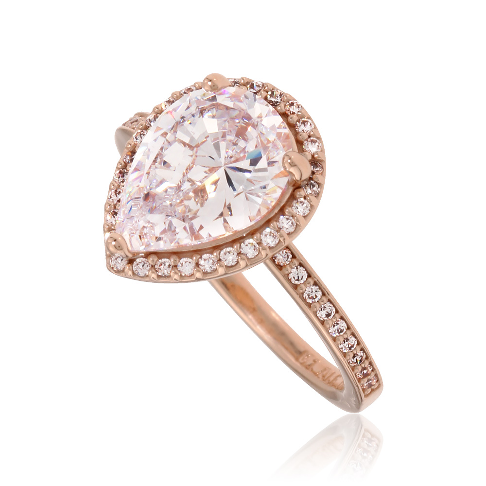 9bd01ca97 Details about Pandora Rose Radiant Teardrops Ring Size 6 With Clear CZ  186251CZ-52