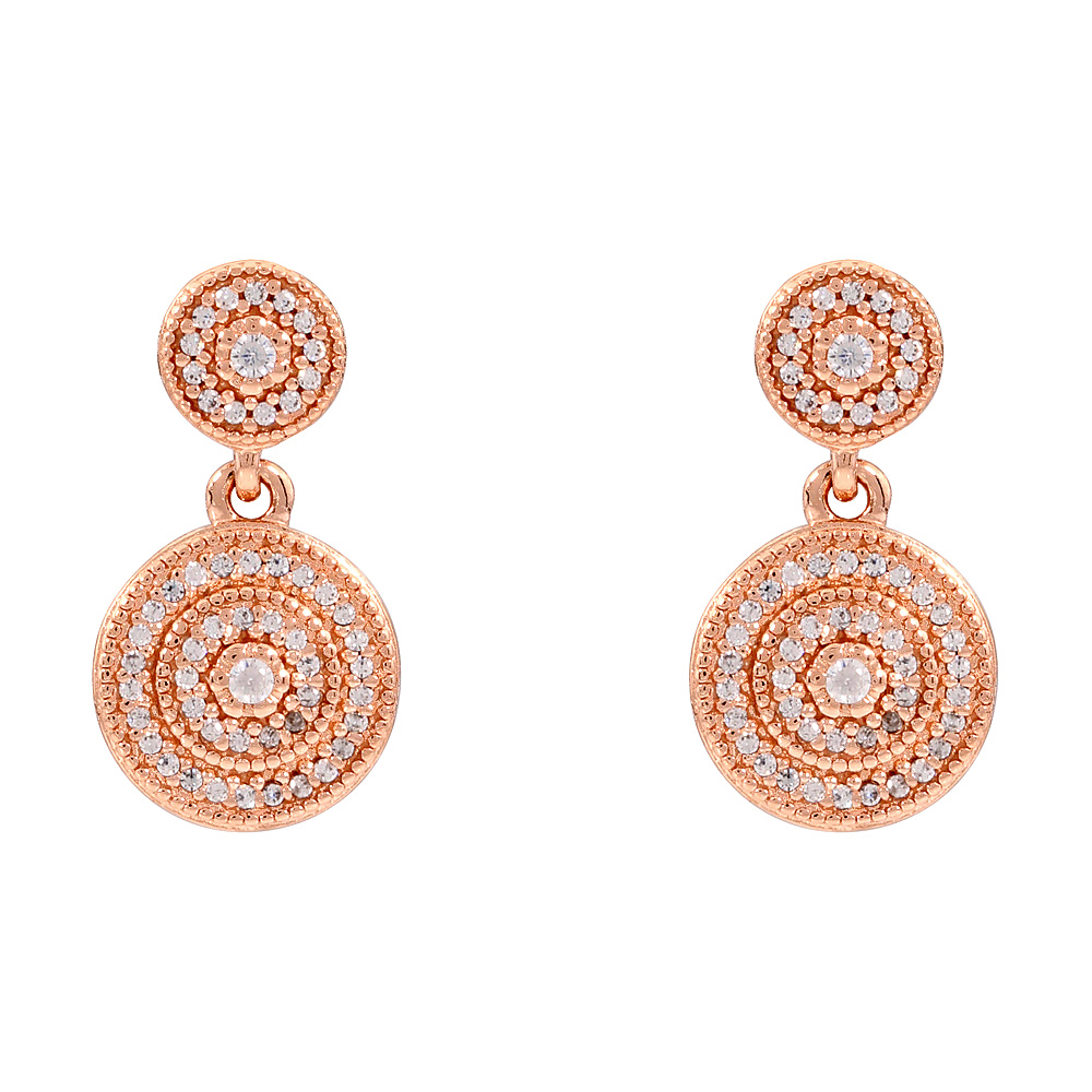 2a13f7a7d Pandora Radiant Elegance Rose Gold Drop Earrings With Clear CZ 280688CZ