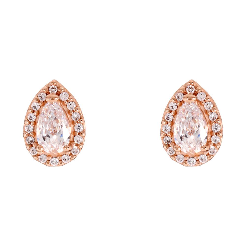9f2abf9ac Pandora Rose Radiant Teardrops Stud Earrings 286252CZ | eBay