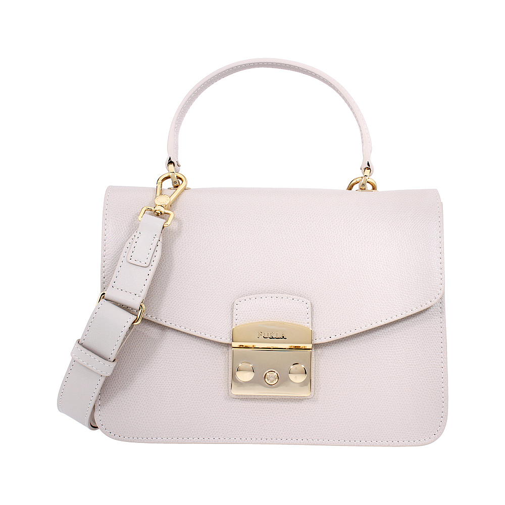 exclusive deals coupon code on feet shots of Details about Furla Metropolis Ladies Small White Perla Leather Shoulder  Bag 978123