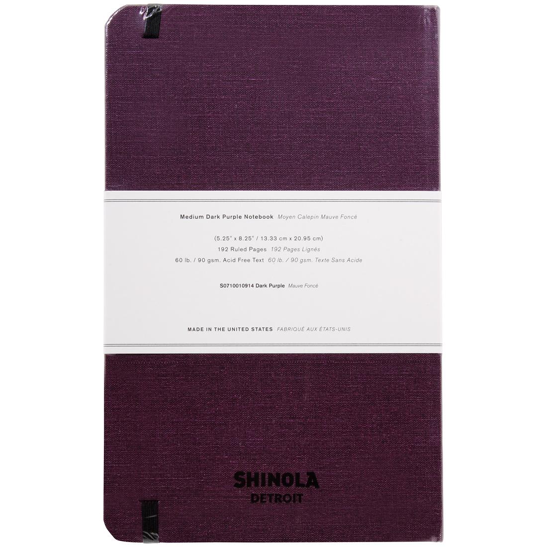 Made in the USA S0710010914 Shinola Detroit Medium Jet Black Notebook