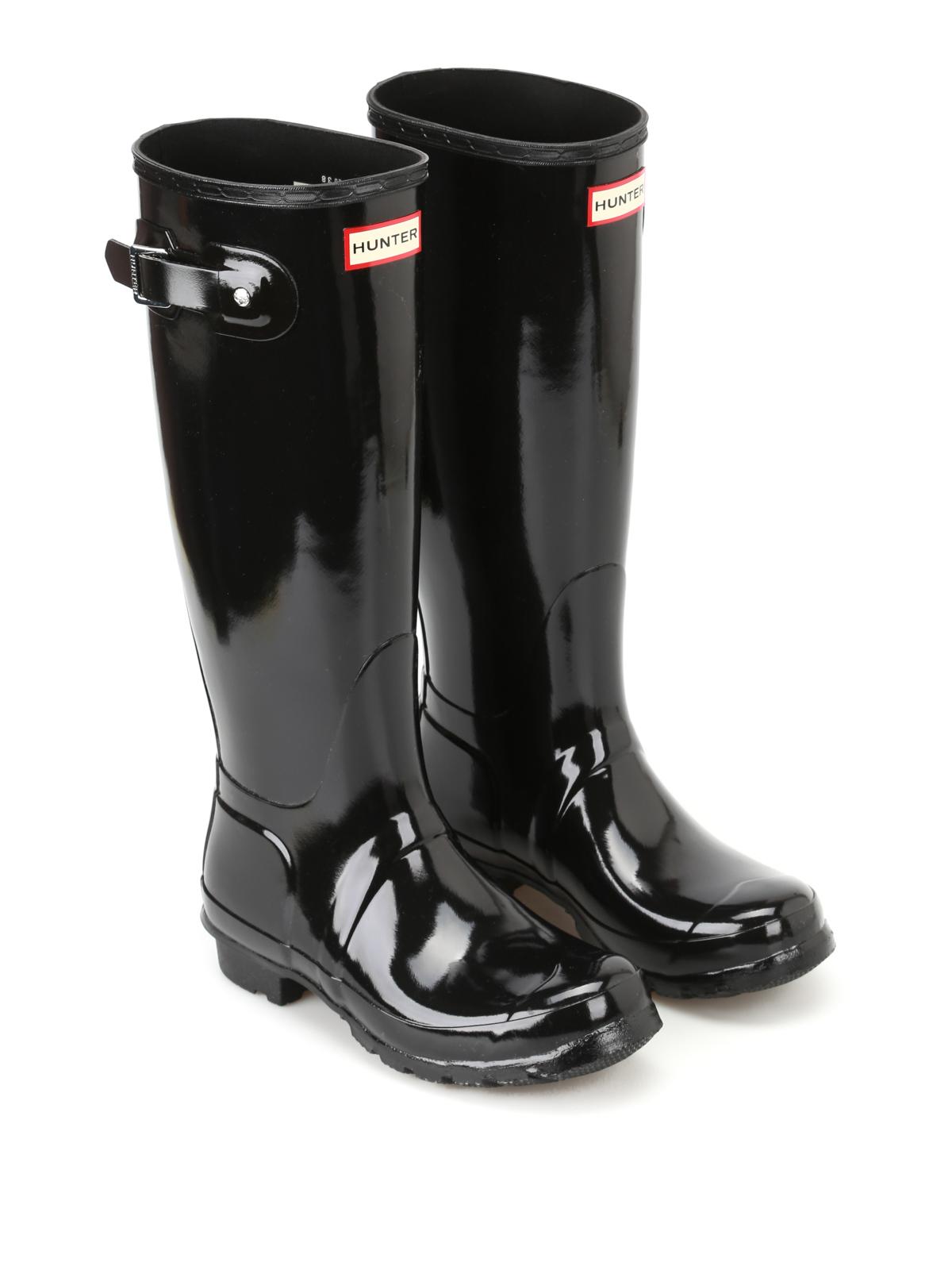 Hunter Tall Black Matte Rain Boots