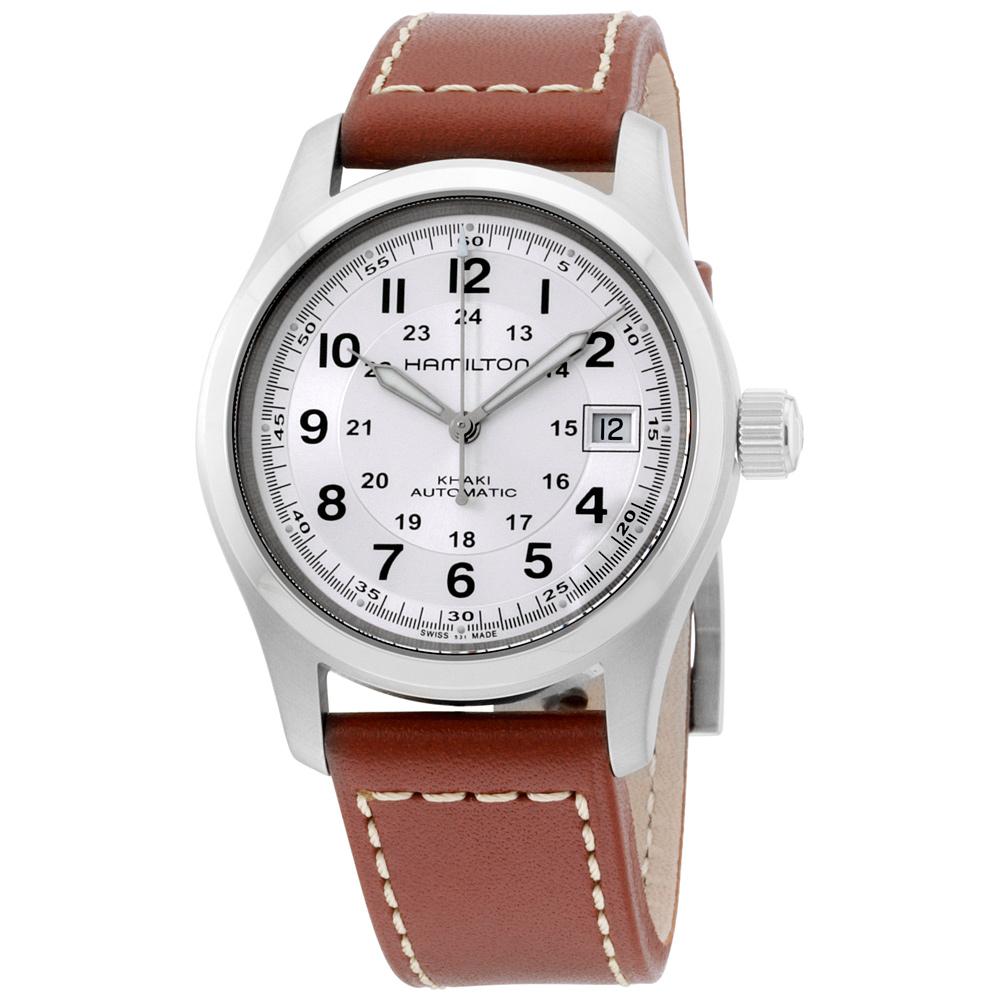 19a3ed965c1 Hamilton Khaki Field Silver Dial Mens Watch H70455553 758501625276 ...