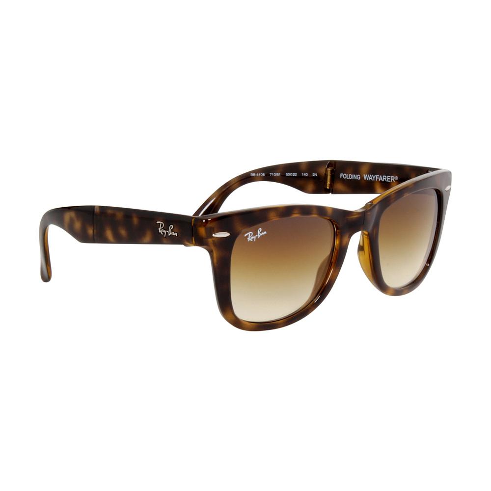 ae75dbd685548 Ray-Ban Wayfarer Folding Nylon Frame Brown Lens Sunglasses RB4105