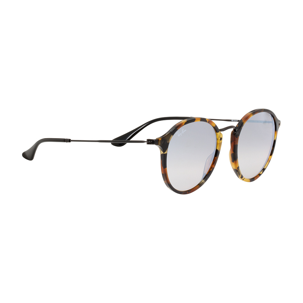 Ray-Ban Round Fleck Flash Grey Gradient Lens Sunglasses RB2447 4