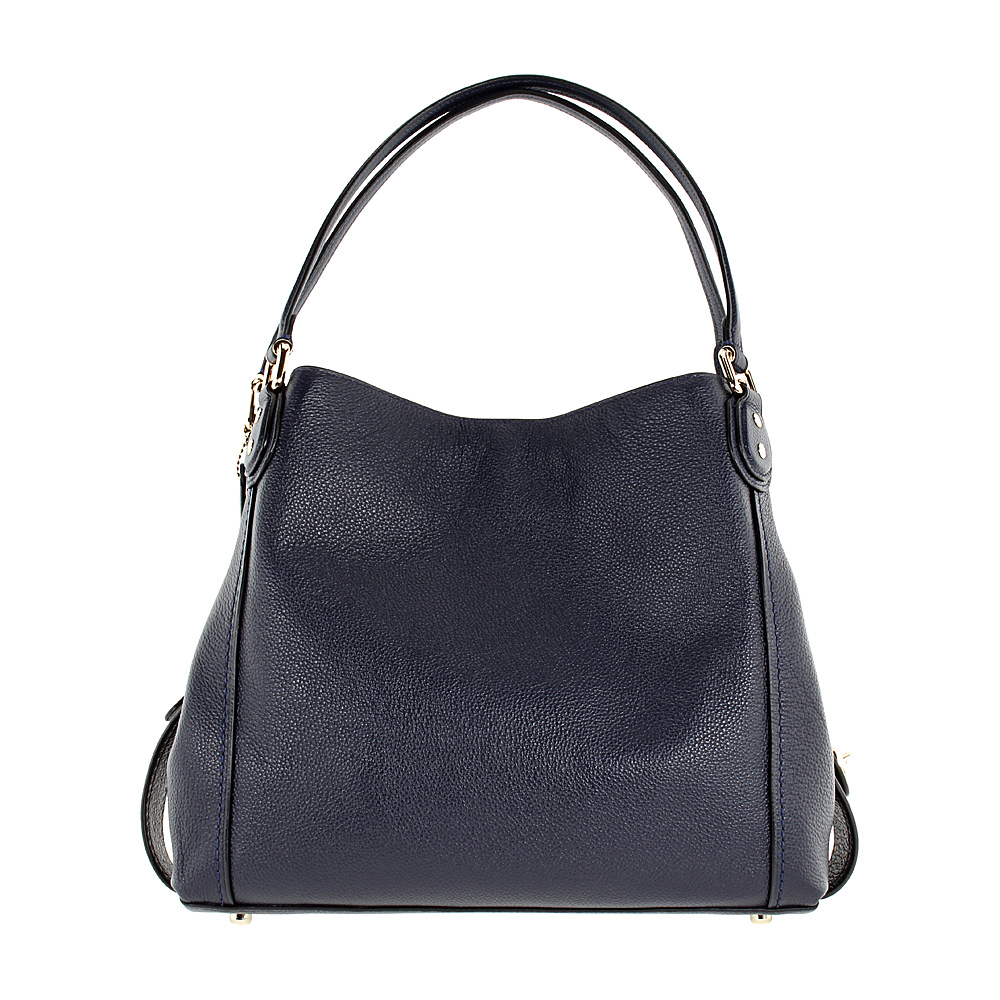 e7a7bc54bc Details about Coach Edie 31 Ladies Large Pebbled Leather Navy Shoulder Bag  57125
