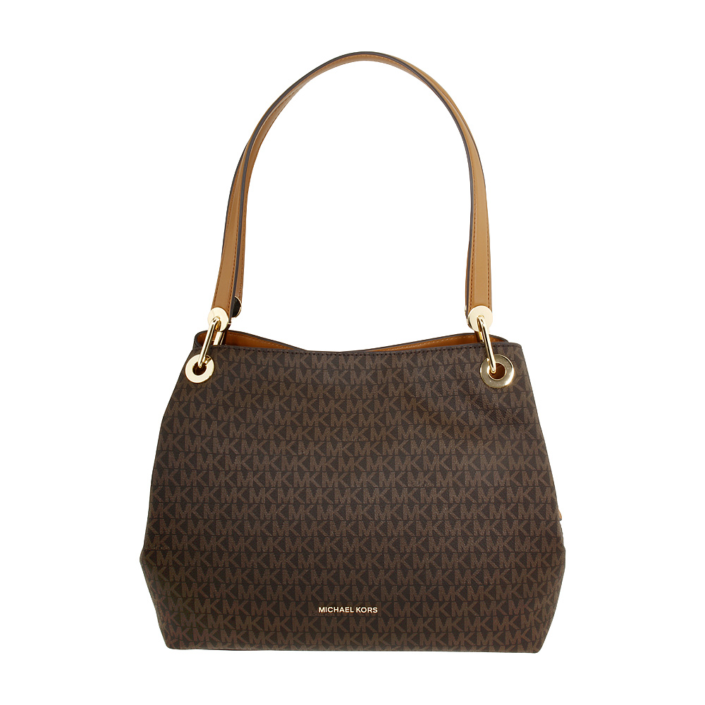 e1e7e215aa0f Details about Michael Kors Raven Ladies Large Coated Twill Shoulder Bag  30H6GRXE3V