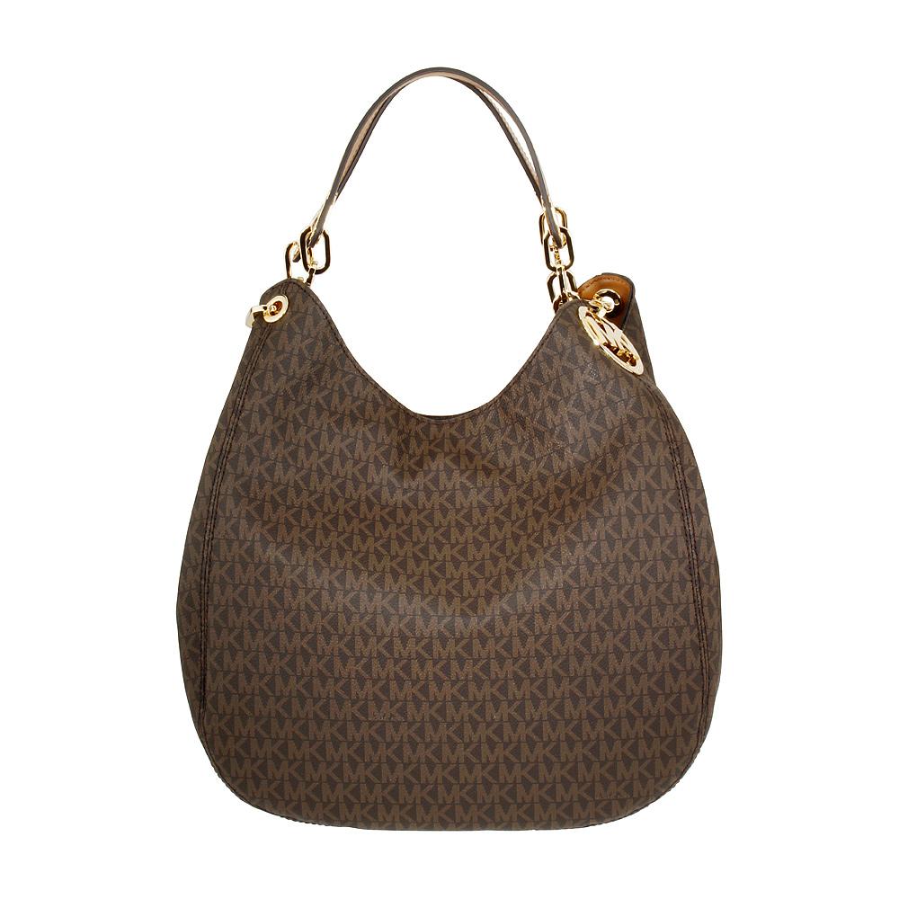 9b08e7f8880c Details about Michael Kors Fulton Ladies Large Twill Shoulder Bag  30S7GFTL3B200