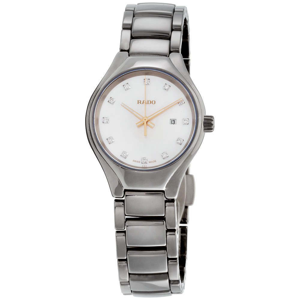 11bcc08d4 Details about Rado True Mother of Pearl Dial Plasma High-Tech Ceramic  Ladies Watch R27060902